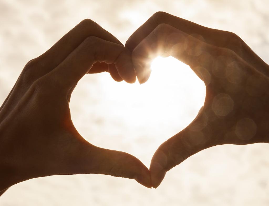 hjerte hånd